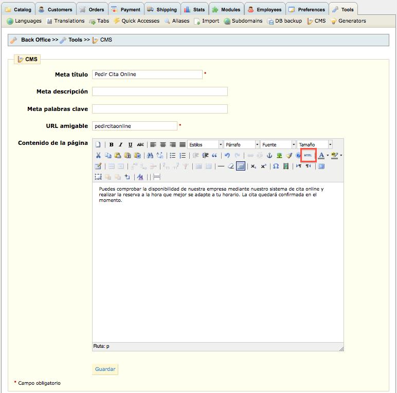 TutorialPrestashop3 Cómo integrar el sistema de reservas online y cita previa de Bookitit en Prestashop