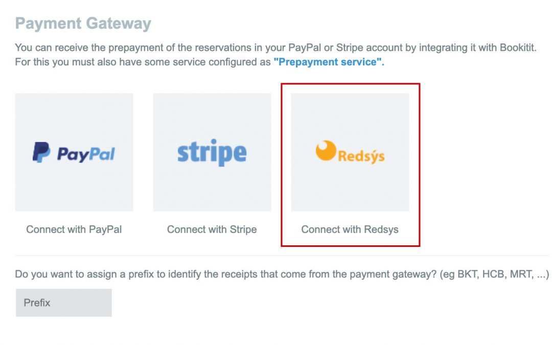 Integrate Bookitit to your Bank through Redsys – Online Booking System