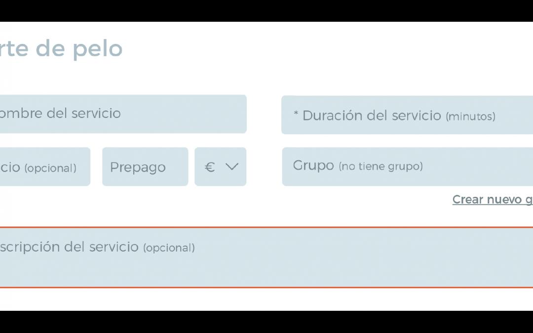 Añade una descripción a tus servicios en el Sistema de Reservas Online de Bookitit