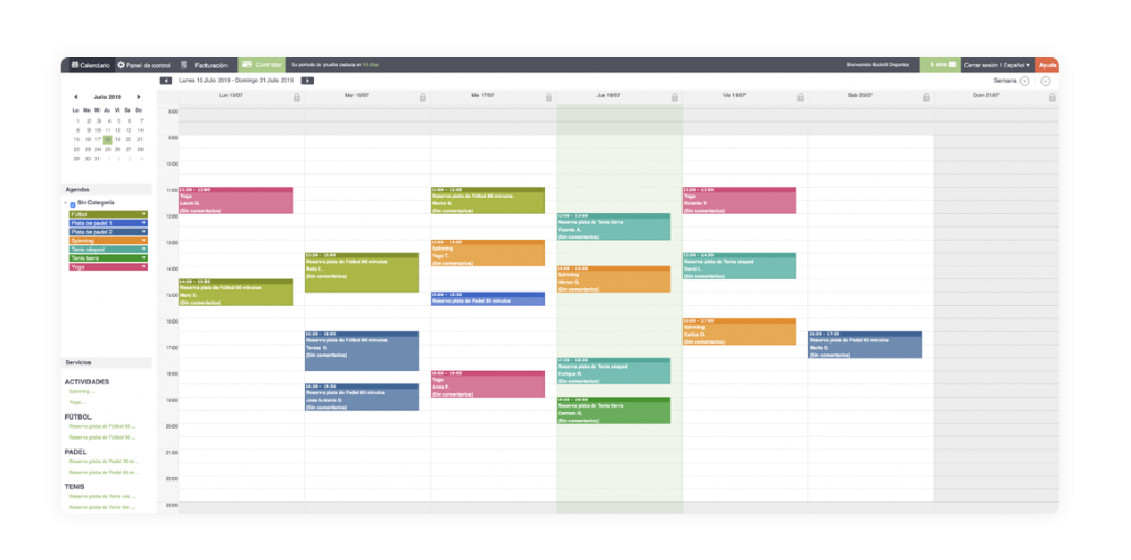 online-padel-calendar